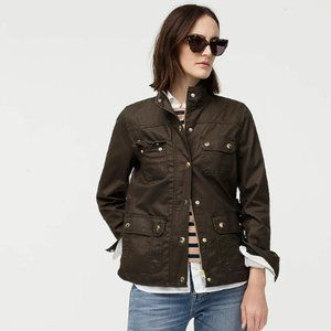 J. Crew The downtown Field Jacket Waxed Canvas